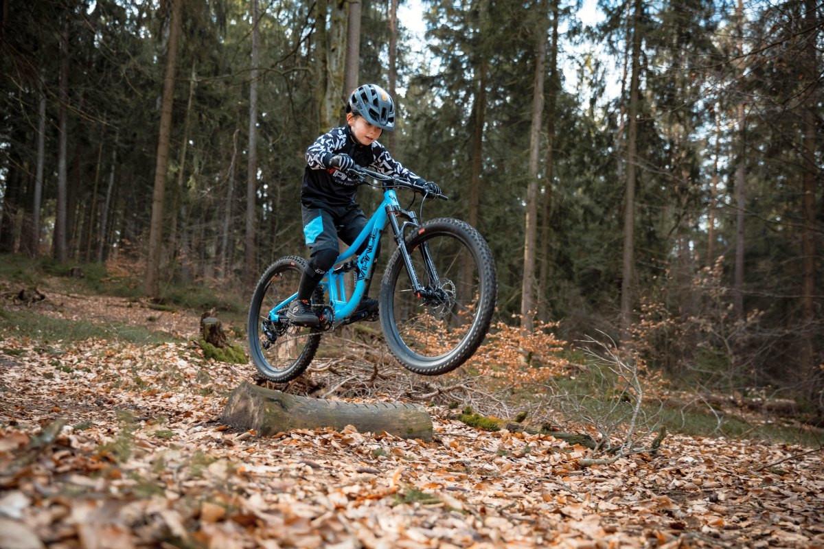 Bergab macht es mit vollgefedertem Bike erst so richtig Spaß