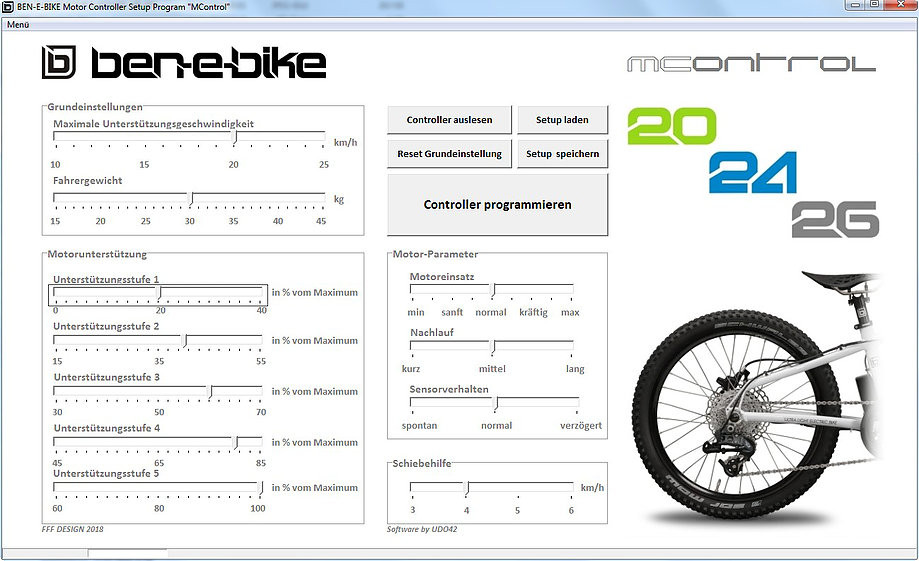 Ben-E-Bike Software